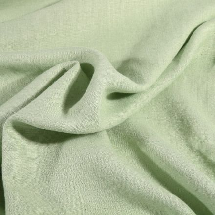 Tissu Lin lavé d'ameublement Vert d'eau - Par 10 cm
