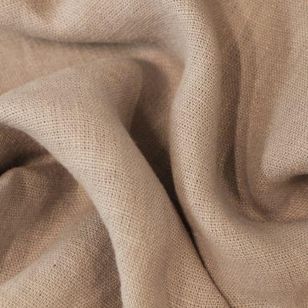 Tissu Lin lavé d'ameublement Gris pierre - Par 10 cm