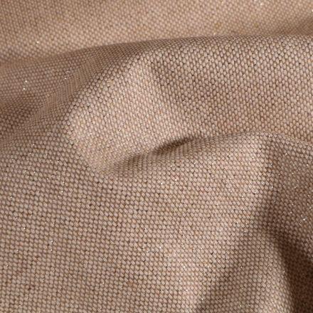 Tissu Toile de coton Enduit Lurex uni Cubex Or Naturel - Par 10 cm