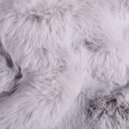 Tissu Fausse fourrure épaisse toute douce Gris - Par 10 cm