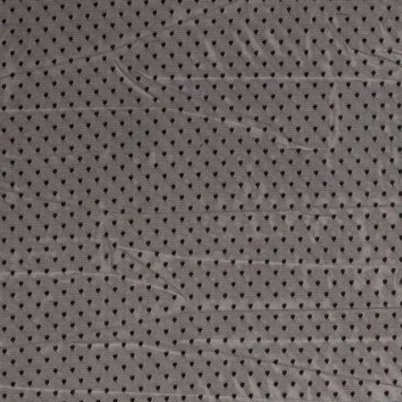 Tissu Tulle souple à pois Pois sur fond Noir - Par 10 cm