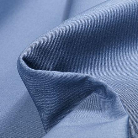 Tissu Coton Sergé uni Bleu cobalt