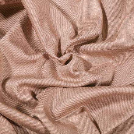 Tissu Coton Sergé uni Cappuccino - Par 10 cm