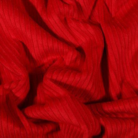 Tissu Velours côtelé uni Rouge - Par 10 cm