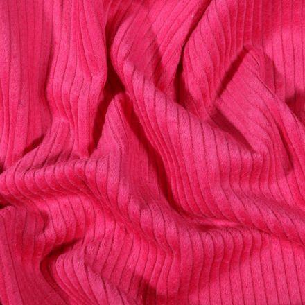 Tissu Velours côtelé uni Rose fuchsia - Par 10 cm