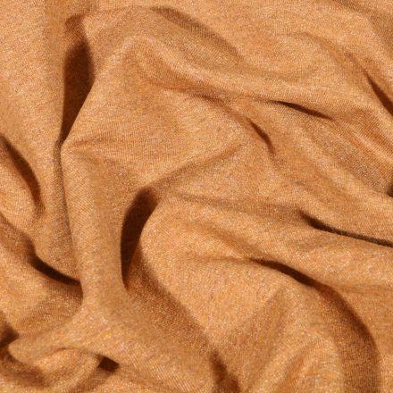 Tissu Sweat léger uni chiné Ocre - Par 10 cm
