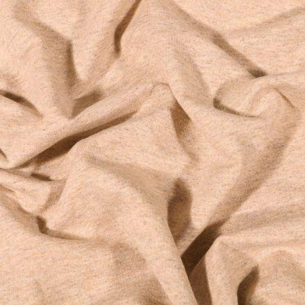 Tissu Sweat léger uni chiné Naturel - Par 10 cm