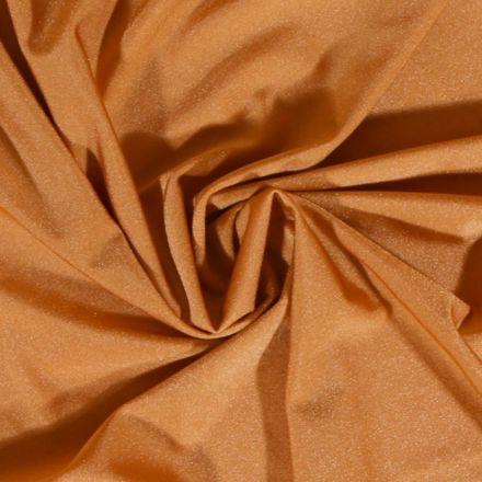 Tissu Lycra Brillant uni Beige Doré - Par 10 cm