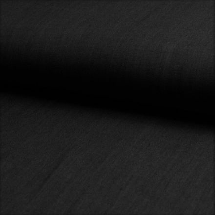 Tissu Chambray Léger Coton Noir - Par 10 cm