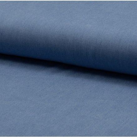 Tissu Chambray Léger Coton Bleu jean - Par 10 cm