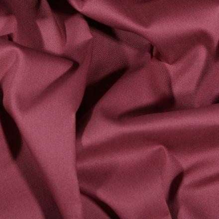 Tissu Popeline de coton Uni Lie de vin - Par 10 cm