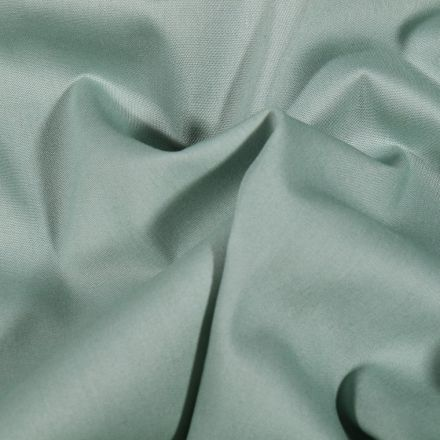 Tissu Popeline de coton Uni Vert d'eau - Par 10 cm