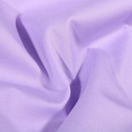 Tissu Popeline de coton Uni Lilas - Par 10 cm