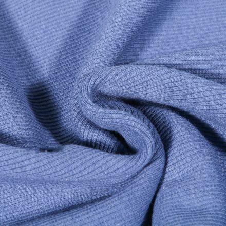 Tissu Bord côte uni Bleu lavande