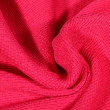 Tissu Bord côte uni Rose bonbon