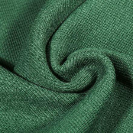 Tissu Bord côte uni Vert émeraude