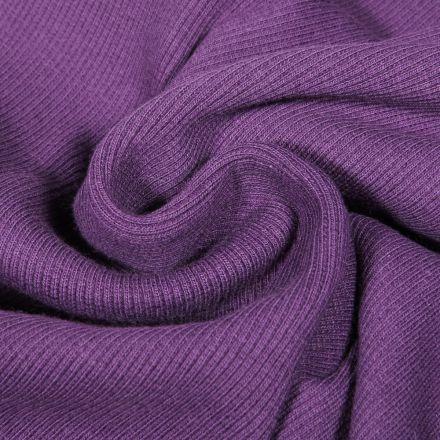 Tissu Bord côte uni Violet