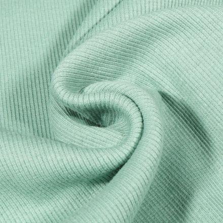 Tissu Bord côte uni Vert menthe clair