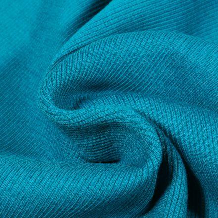 Tissu Bord côte uni Bleu indigo