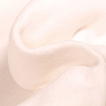 Tissu Flanelle de coton épais Blanc cassé
