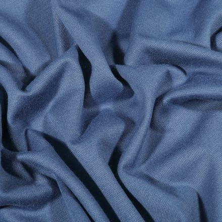 Tissu Jersey Milano uni Bleu indigo - Par 10 cm