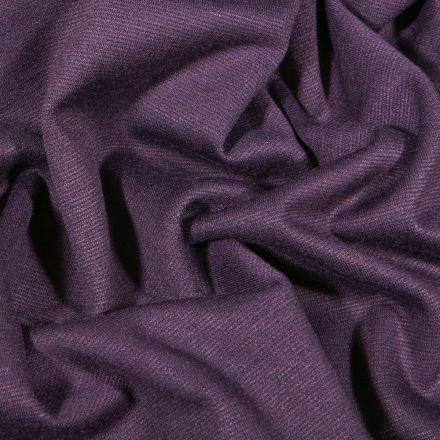 Tissu Jersey Milano uni Violet foncé - Par 10 cm