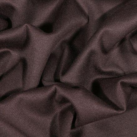 Tissu Jersey Milano uni Marron foncé - Par 10 cm