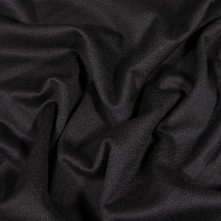 Tissu Jersey Milano uni Noir - Par 10 cm