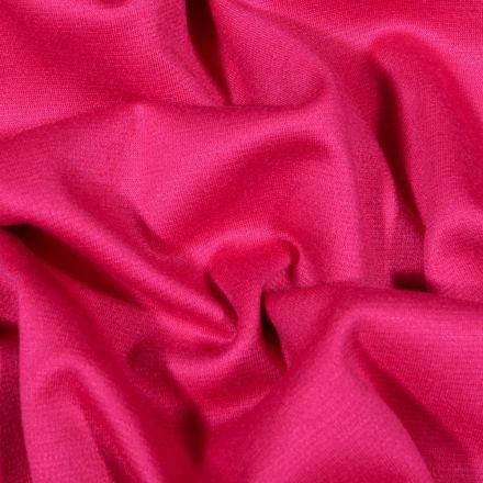 Tissu Jersey Milano uni Framboise - Par 10 cm