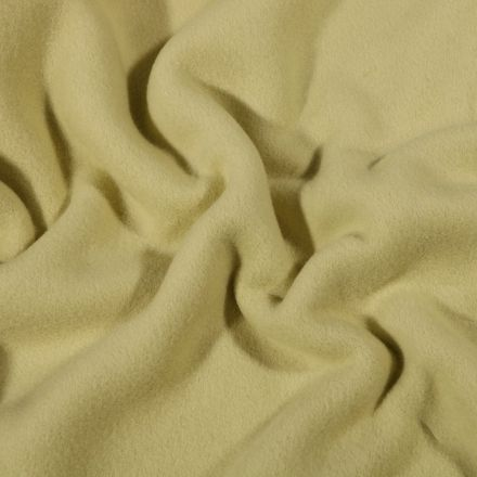 Tissu Polaire Coton uni  Vert amande - Par 10 cm
