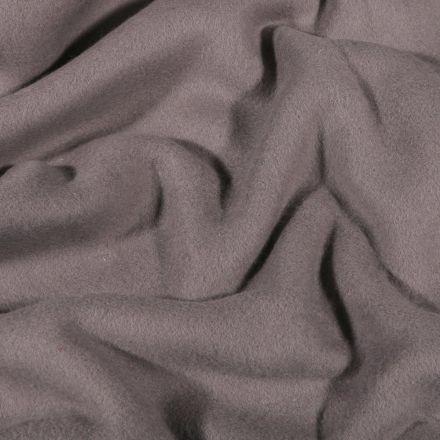 Tissu Polaire Coton uni  Gris foncé - Par 10 cm
