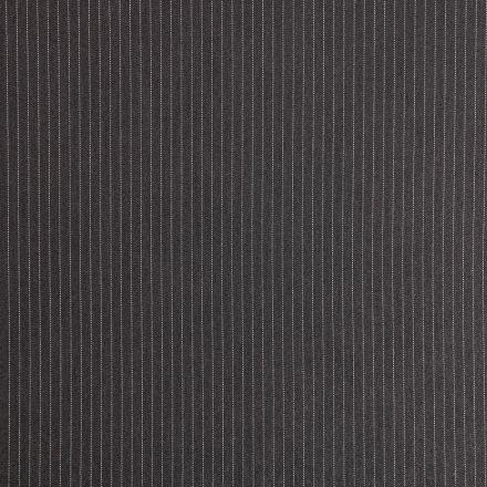 Tissu Gabardine de Viscose Fines Rayures Blanches sur fond Gris foncé - Par 10 cm