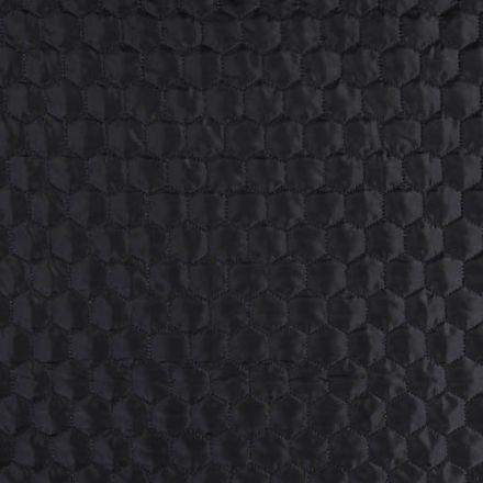 Tissu Doudoune matelassé Hexagone Bleu marine - Par 10 cm