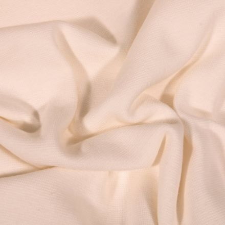 Tissu Bord côte uni Bio Ecru - Par 10 cm