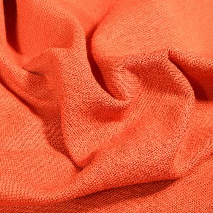 Tissu Bord côte uni Bio Orange