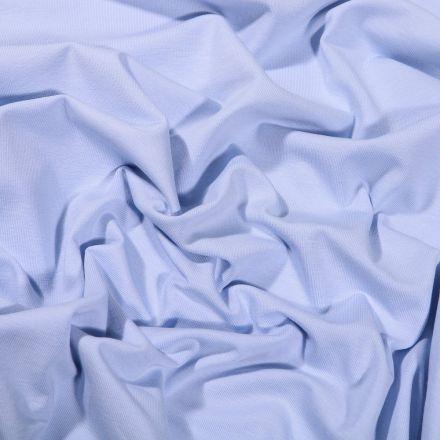 Tissu Jersey Coton Bio uni Bleu layette - Par 10 cm