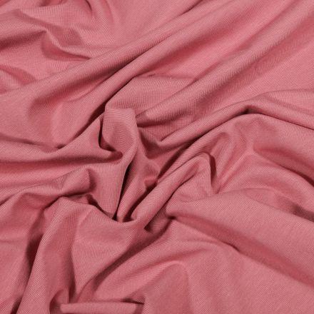 Tissu Jersey Coton Bio uni Vieux rose - Par 10 cm