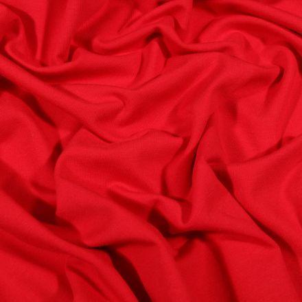 Tissu Jersey Coton Bio uni Rouge - Par 10 cm