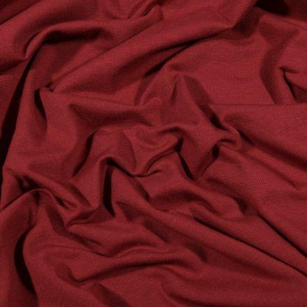 Tissu Jersey Coton Bio uni Bordeaux - Par 10 cm