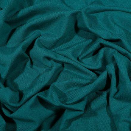 Tissu Jersey Coton Bio uni Bleu pétrole - Par 10 cm