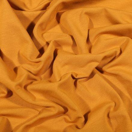 Tissu Jersey Coton Bio uni Ocre - Par 10 cm