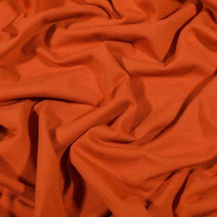 Tissu Jersey Coton Bio uni Brique - Par 10 cm