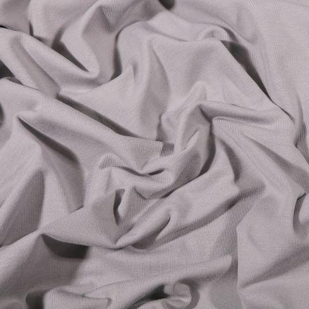 Tissu Jersey Coton Bio uni Gris clair - Par 10 cm