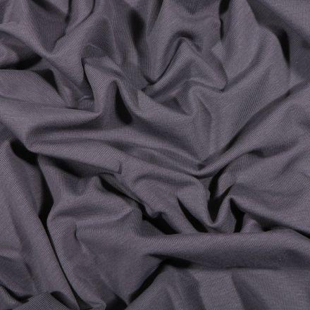 Tissu Jersey Coton Bio uni Gris anthracite - Par 10 cm