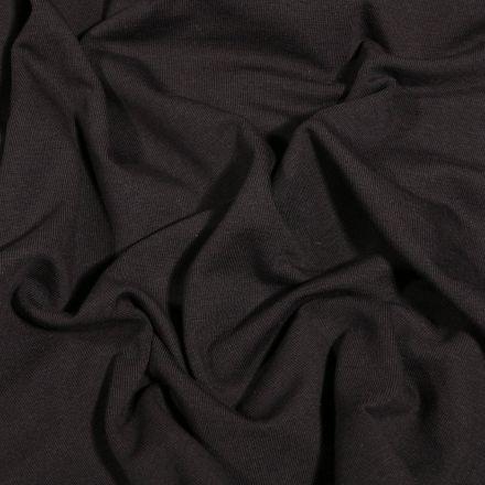 Tissu Jersey Coton Bio uni Noir - Par 10 cm