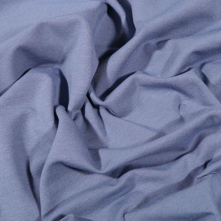 Tissu Jersey Coton Bio uni Bleu indigo - Par 10 cm