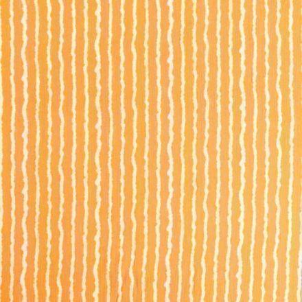 Tissu Crépon Viscose Rayures Blanches sur fond Moutarde - Par 10 cm