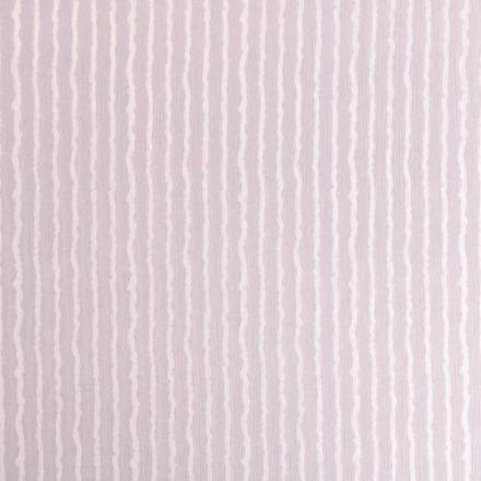 Tissu Crépon Viscose Rayures Blanches sur fond Gris perle - Par 10 cm
