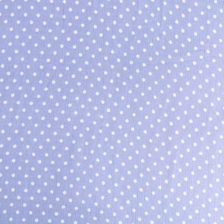 Tissu Crépon Viscose Pois Blancs sur fond Lavande - Par 10 cm