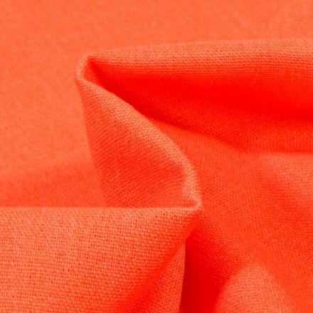 Tissu Viscose Lin Orange